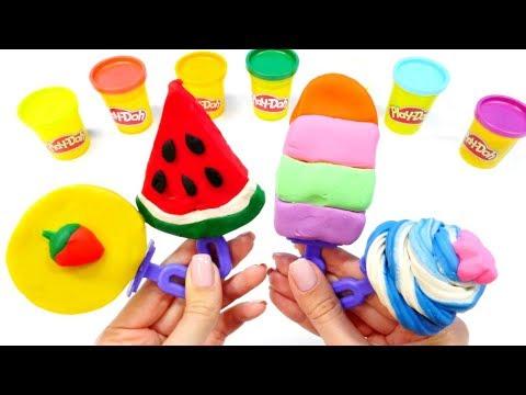 Knete Ideen für Kinder. Eis aus Play Doh.
