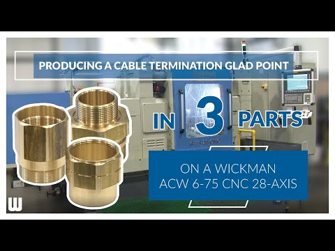 3 mating components - Wickman ACW 6-57 CNC (28-Axis)