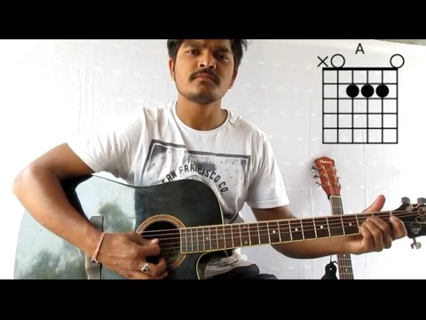 tere bina guitar lesson and cover chords strumming