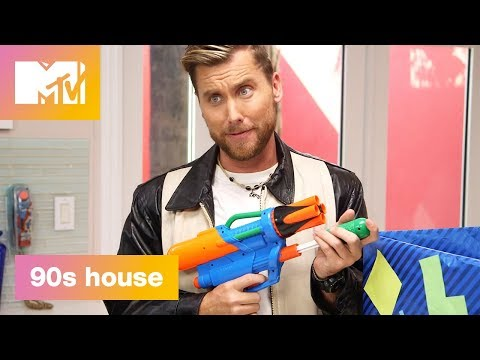 90's Time Capsule: NERF Guns & Bop It | 90's House: Hosted by Lance Bass & Christina Milian | MTV