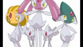 Uxie  - (Pokémon) - Pokemon D/P Azelf/Uxie/Mesprit Battle theme extended