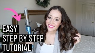 How I Curl My Hair With The Babyliss Pro Curling Iron: Easy Hair Curling Tutorial!!