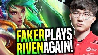 Faker Plays Riven Again! - SKT T1 Faker SoloQ Playing Riven Again! (He still good?) | SKT T1 Replays