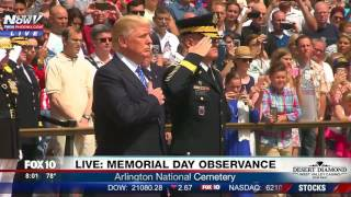 WATCH: President Trump At The Tomb of the Unknown Soldier