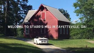 GA grist Mill and wooden covered bridge made by freed slave in 1840