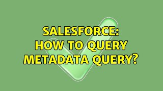 Salesforce: How to query Metadata Query?