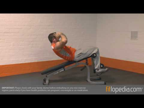 Decline Sit Up on Bench with Oblique Twist
