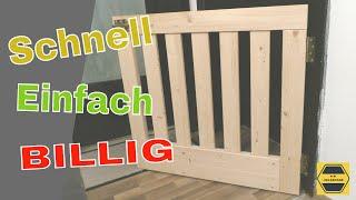 Die billigste Absperrgitter für Treppen   /  Treppenschutzgitter selber bauen
