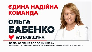 Стратегія розвитку міста Ольги БАБЕНКО