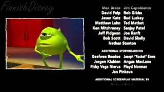 Monsters Inc (Monsterit Oy) - Bloopers (Poistetut Kohtaukset) [FINNISH]