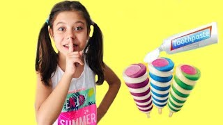 Babama Diş  Macunu Şakası Yaptım Tooth Paste Joke Ice Cream Funny Kids Video