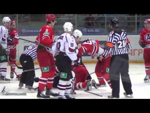 Драка: Гареев VS Цибульскис (Автомобилист - Динамо, Рига)