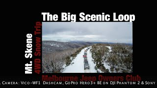 """The Big Scenic Loop"" on Jeep Grand Cherokee - Mt Skene 4WD Snow Trip 2014"