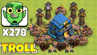 """YOU WONT BELIEVE THIS """"Clash Of Clans"""" GOBLIN MASS vs. TOWN HALL 12!!"""
