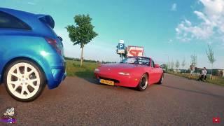 ????????Fpv Chasing Opel Corsa Opc & Mazda Mx5