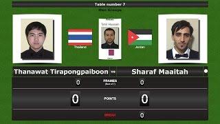 Snooker Men Groups : Thanawat Tirapongpaiboon vs Sharaf Maaitah