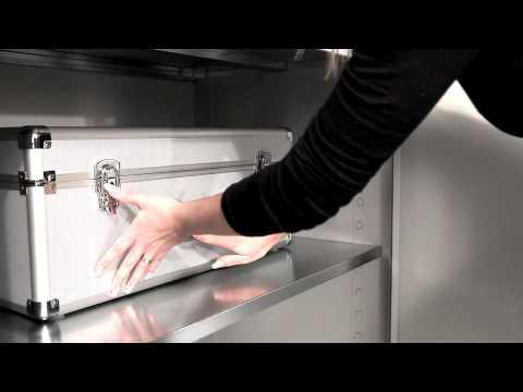 Flügeltürenschrank, Stahlschrank, Aktenschrank für Werkstatt, Büro, Archiv und Betrieb