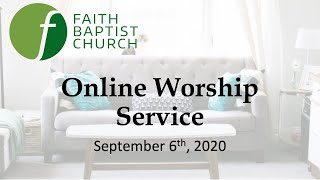 Online Worship - September 6th