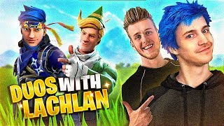 LACHLAN AND NINJA JOIN FORCES IN FORTNITE DUOS!