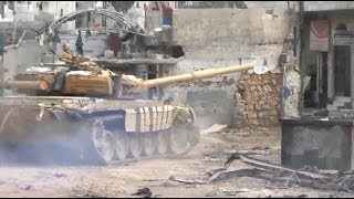 ᴴᴰ T-72 Tank with GoPro™ get Hit in an Ambush in Darayya Syria ♦ subtitles ♦