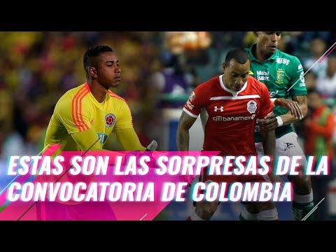 Estas son las sorpresas de la convocatoria de la seleccion Colombia.
