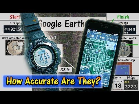 Altimeter Test - Casio Watch vs GPS vs Smartphone Apps vs Google Earth | Paragliding Experiment