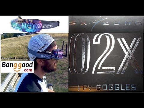 SKYZONE SKY02X 5.8Ghz 48CH Diversity FPV Goggles review