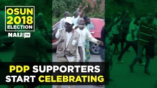 PDP supporters celebrating early lead | Naij.com TV