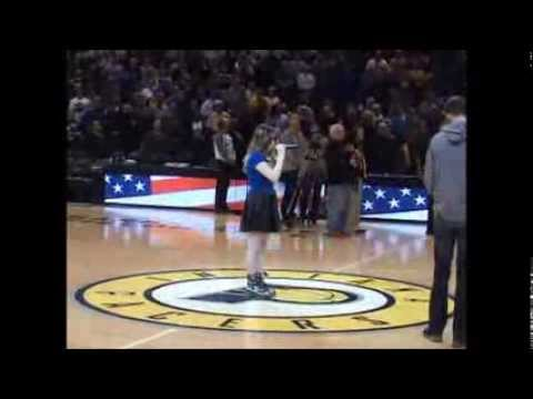 Maria Diebolt National Anthem Indiana Pacers vs. Golden State Warriors