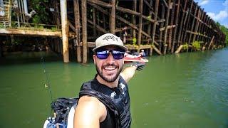 Exploring Under SUPER Structures For Lost Treasure!! (giant barge) | Jiggin' With Jordan