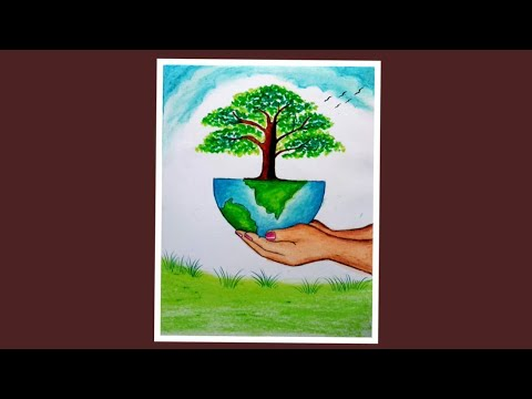 Save Nature Save Earth Drawing | Environment Day Drawing for Beginners