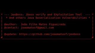 Tool Demo - JexBoss