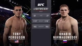 UFC2  Тони Фергюсон-Хабиб Нурмагомедов. Нокаут.