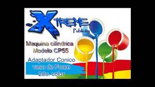Xtreme Publicity Maquina Cilindrica Para Serigrafia CP55 - Vasos De Foam A 2 Colores Otro Logo