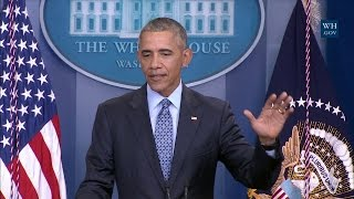 President Obama Holds his Final Press Conference