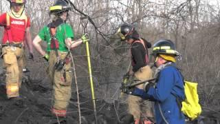 Rubbish fire in Catasauqua, PA