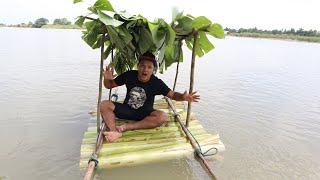 DIY สร้างแพต้นกล้วย เอาชีวิตรอด ตอนน้ำท่วม   CLASSIC NU