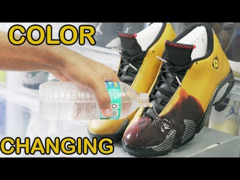 Custom COLOR SHIFTING Shoes!!! DIY (MIND BLOWING)