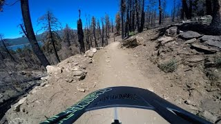 Ben Goyette's POV video of Going Green; trail goes left of Party Wave entrance @ 1:30 in clip