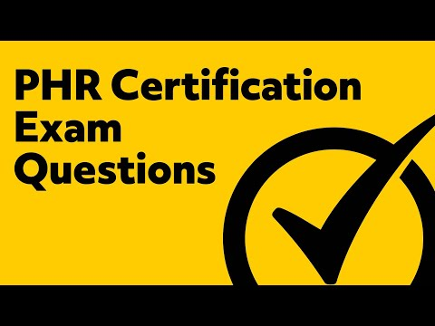 PHR Certification Exam Questions - YouTube