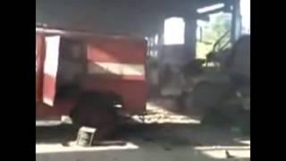 Луганск  Уничтожение части МЧС, штурмовиком АТО  ЛНР ДНР
