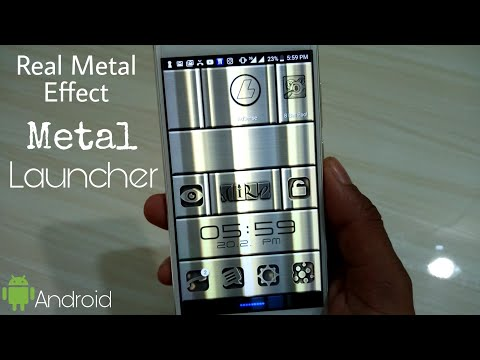 Unique Launcher App | Metal Chrome Finish Android Launcher App 2018