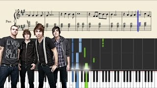 All Time Low - Take Cover - Piano Tutorial + SHEETS