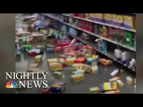 California Residents Wondered If Today's Earthquake Was 'The Big One' | NBC Nightly News (видео)