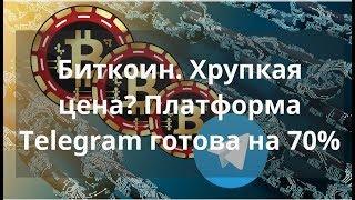 Биткоин. Хрупкая цена? Платформа Telegram готова на 70% Курс bitcoin #bitcoinify
