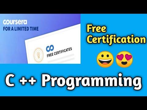 C++ Programming Free certification   Coursera Free Certification ...