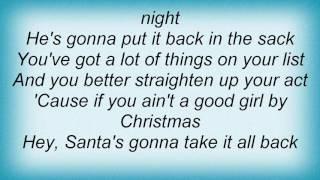 Toby Keith - Santa's Gonna Take It All Back Lyrics