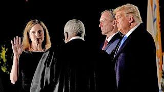 video: Amy Coney Barrett: Supreme Court judge sworn in as Donald Trump hails 'momentous day for America'