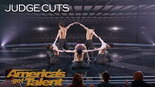 Blue Tokyo: Dance Group Stuns With Incredible Choreographed Tricks - America's Got Talent 2018