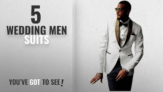 Top 10 Wedding Men Suits [Winter 2018 ]: JYDress Mens 2-Piece Groom Suit White One Button Tuxedo
